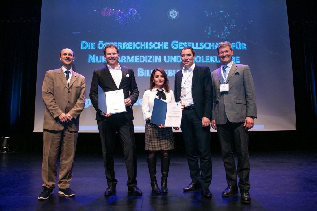 Wolfgang Wadsak, Markus Hartenbach iV Bernhard Grubmüller, Sazan Rasul, Marcus Hacker, Alexander Becherer bei der Verleihung